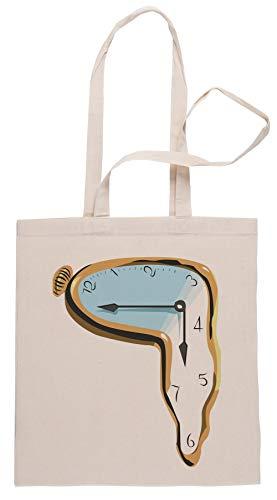 Derritiendo Reloj Bolsa De Compras Shopping Bag Beige
