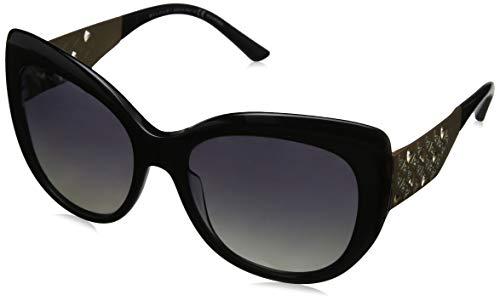 Bulgari 0Bv8198B 5439T3 57 Gafas de sol, Negro (Black/Polargrey), Mujer