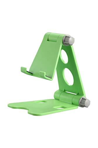 Soporte de teléfono plegable para teléfono móvil, multiángulo, soporte de escritorio, soporte para tablet universal (color: verde)