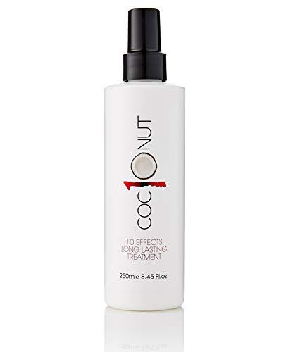 Der SEIGER 2019 - Kokos-Hitzeschutzspray - Leave-in-Haarkur für trockenes Haar, Anti-Frizz, UV-Schutz, Antistatisch, Hitzeschutz, Glanz & Volumen - 10 Vorteile in einem Styling-Produkt - 250 ml