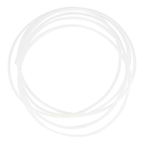 Othmro PTFE Tubi 2mm ID x 2.4mm OD x 1.5ft PTFE Tubo per PLA ABS Stampante 3D Bianco Lattea 1PZ