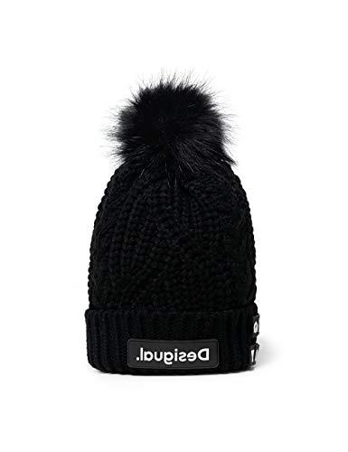 Desigual womens HAT_MESSAGES Headwrap, Black, U