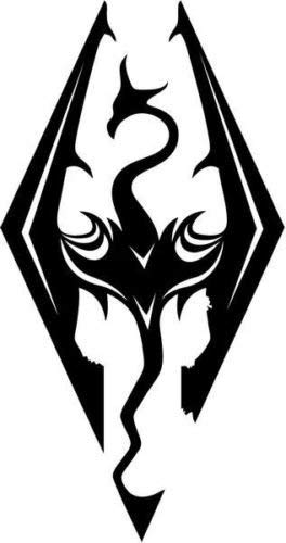 Skyrim Dragon Video Game Vinyl Graphic Car Truck Windows Decor Decal Sticker - Die Cut Vinyl Decal for Windows, Cars, Trucks, Tool Boxes, laptops, MacBook - virtually Any Hard, Smooth Surface