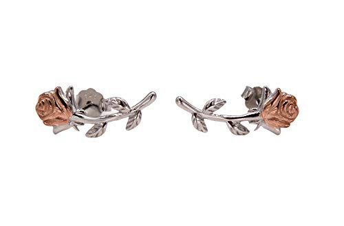 Pendientes de plata 925, diseño de rosa, Fairytale