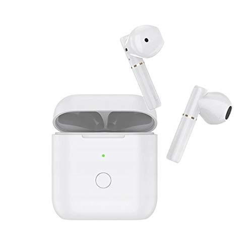 Auriculares Inalámbricos QCY, Compatibles con iOS, Android y Otros Teléfonos Inteligentes Líderes, Auriculares Bluetooth TWS 5.0 con Micrófono, (Blanco)