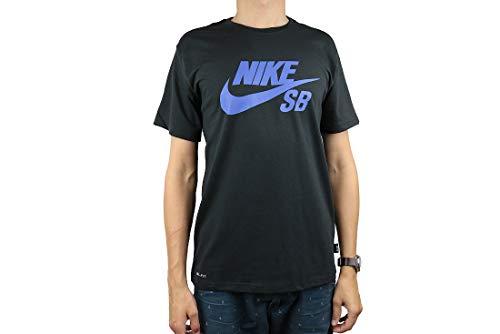 Nike Herren SB Logo Tee T-Shirt, Schwarz (Black 821946-019), Large (Herstellergröße: L)