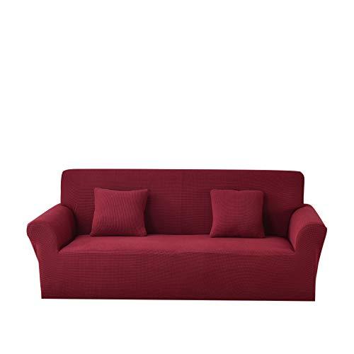 AntideslizanteSofá Protector Cubierta,1/2/3/4 plazas Funda de sofá Universal elástica de Punto Fundas elásticas Gruesas para Sala de Estar Funda de sofá Funda de sillón-Red_One Seat 90-140CM_
