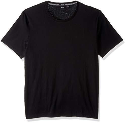 Hugo Boss BOSS Men's Tiburt Short Sleeve Crewneck T-Shirt, Black, M