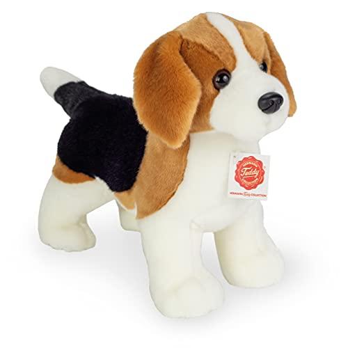 Teddy Hermann 91954 Hund Beagle stehend 26 cm, Kuscheltier, Plüschtier