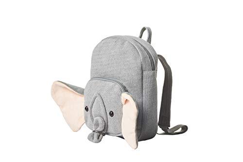 CROCHETTS | Mochila para niños, Mochila Animal Elefante, Tejido al Crochet, Algodón Natural 100%, Hipoalergénico, Mochila para 2-5 años