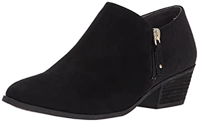 Dr. Scholl's Shoes Women's Brief Ankle Boot, Black Microfiber Suede, 7.5 M US