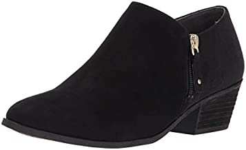 Dr. Scholl's Shoes womens Brief -Ankle Ankle Boot, Black Microfiber Suede, 8.5 US
