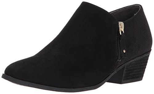 Dr. Scholl's Shoes womens Brief -Ankle Ankle Boot, Black Microfiber Suede, 9.5 Wide US
