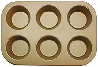 Muffin Pan 6 Cup Nonstick Cupcake Pan Cookies Bakeware Tray Mold