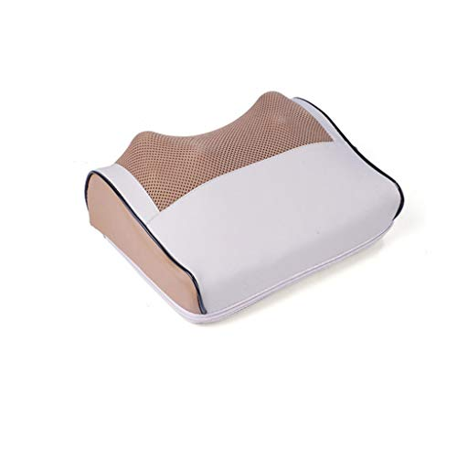 DAFA Elektro-Infrarotheizungs-Ansatz-Schulter zurück Körpermassage Shiatsu Kissen gesunde Entspannung Gerät Multifunktions-Kissen Back Home Full Body Cushion,Beige