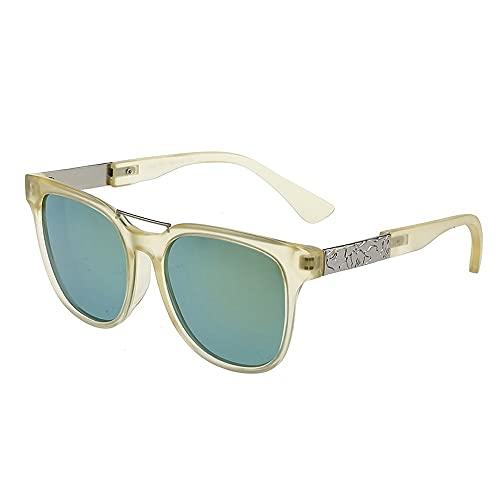 Gafas De Sol para Niños, Hombres Y Mujeres, Gafas De Sol De Moda con Lentes Polarizados, Gafas De Sol Redondas Retro, Gafas Protectoras Polarizadas, con Funciones De Protección. (Color : Green)