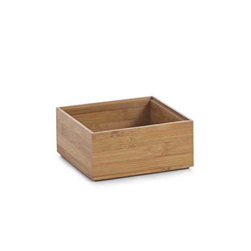 Zeller 13330 Ordnungsbox, Bamboo, ca. 15 x 15 x 7 cm