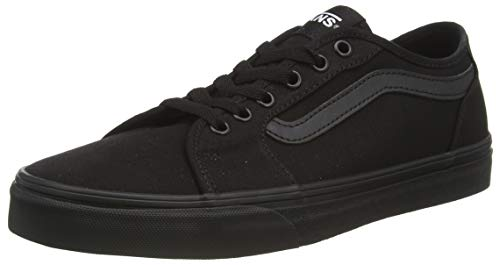 Vans Men's Filmore Decon Platform Shoes, Black Canvas Black Black 186, 40