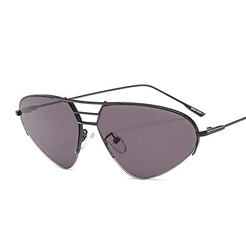 SONGQ Moda Steampunk Gradiente Gafas De Sol Retro Aleación Marco Triángulo Gafas Sombrilla Espejo 1