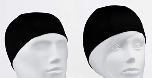 Gorro de Baño de Tela para Piscina o SPA / Gorro de Natacion Comodo y Ligero de Tejido Poliester para Adulto Hombre o Mujer Unisex / Talla Unica Punto Negro Liso (1)