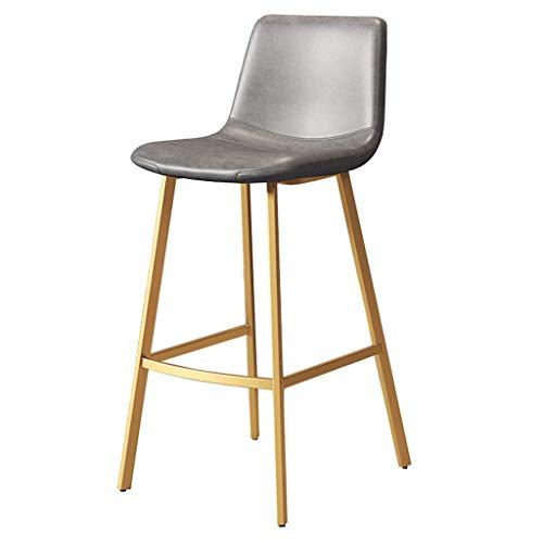 WGEMXC Stühle, Hochstühle, Barstühle, Hocker Frühstück Küche Bar Stühle Mit Rückenlehne Eisenbeine/Polster Cafe Esszimmerstühle,65 cm,65 cm