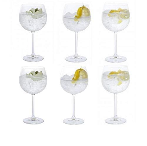 Dartington Crystal Vasos Crystal Copa Gin, juego de 6 x 520ml