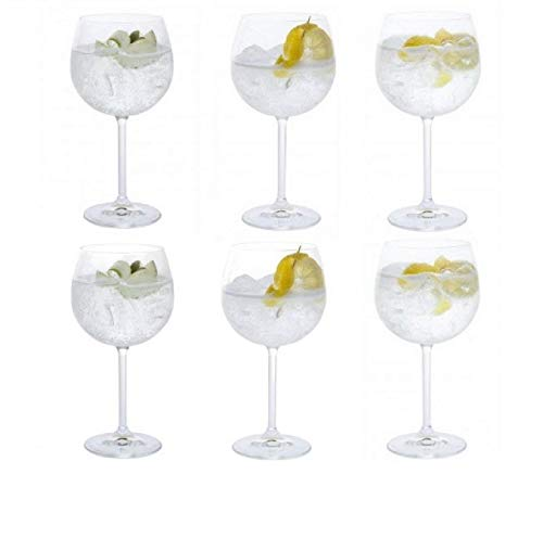 Dartington Crystal Vasos Crystal Copa Gin, juego de 6 x 520ml