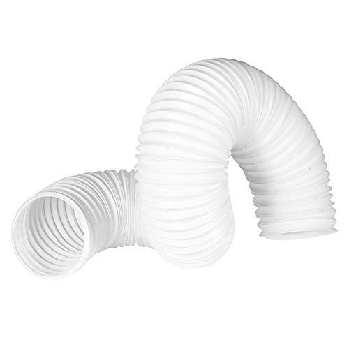 OOPPEN 空調排気ダクト フレキシブルホース 空調排気ホース 気用ダクトホース 換気・排気用 収納型フレキシブルダクト エアコン用ホース 左回転 ホワイト (100mm*2m)
