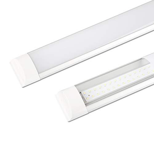 Flache LED Latten leuchte 40W, Tageslicht 4000k, IP20 Staubdicht, 120CM, LED Deckenleucht Röhre Licht für Wohnzimmer, Küche, Garage, Lager, Werkstatt, Keller, Büro - 2 Stücke