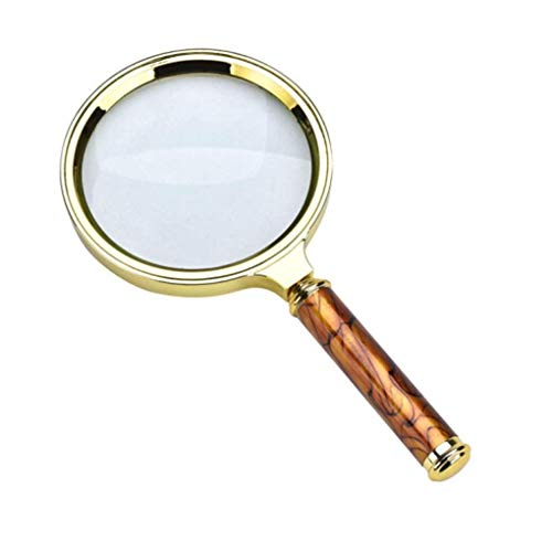 YUIOLIL The Old Man 3 Times Magnifying Glasses Reading 20 Times The Elderly Wearing A Portable High-Definition Magnifying Glass Microscope