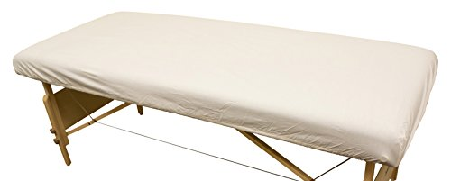 Body Linen Simplicity Poly Cotton Massage Table Fitted Sheet 180 Thread Count - Natural