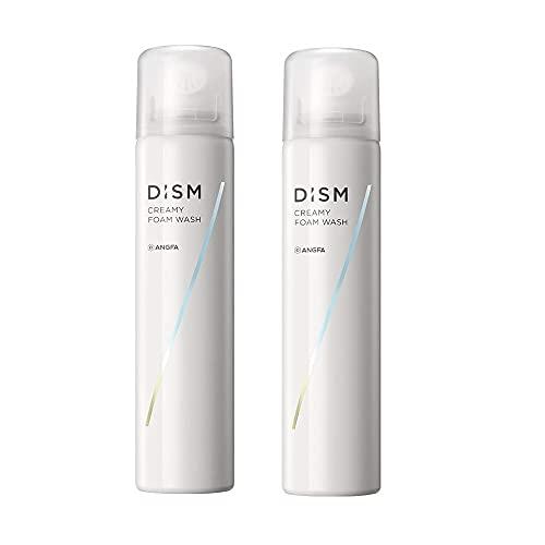 アンファー ANGFA ディズム クリーミーフォームウォッシュ 2本セット 泡洗顔 メンズ 洗顔料 炭酸泡 シェービング使用可能 エアゾール 120g (約2ヶ月分) 洗顔フォーム