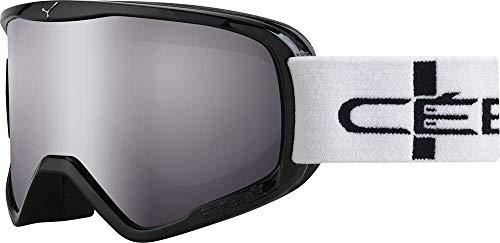 Cébé Skibrille Striker Light Rose Flash Mirror, Schwarz Stripes, L