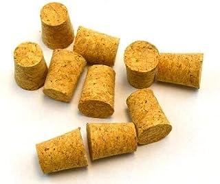 Lot de 10 bouchons coniques en liège naturel 18 mm x 22 mm x 30 mm