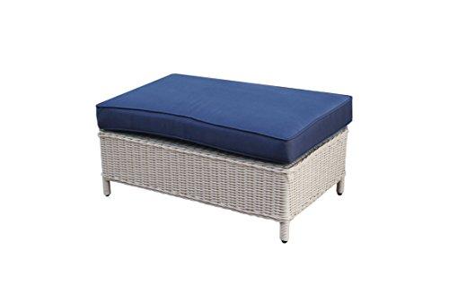 Büloo Polyrattan Gartenmöbel Lounge Set Sitzgruppe mit 2-Sitzer-Sofa oder 3-Sitzer-Sofa, Farbe in helles beige oder braun, aus Aluminium, fertig montiert (3-Sitzer-Sofa, braun/Weiss) Bild 6*