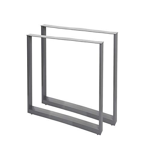 Bastidores para mesa 60x72 cm Recubrimiento polvo gris Caballetes tablero Patas mesita Bricolaje