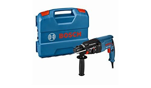 Bosch Professional 06112A3000 Martillo perforador con SDS-plus, 830 W, 230 V, azul y negro, 44.8 x 35.7 x 11.6 cm