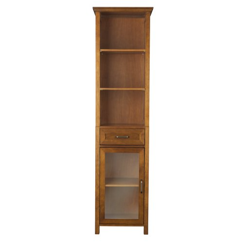 Elegant Home Fashion Anna Linen Cabinet with Drawer and 3-Shelf