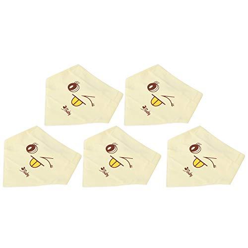 Hudvänliga haklappar för barn, absorberande spädbarnsbandanas, för rengöring av spädbarn som spiser barn(yellow)