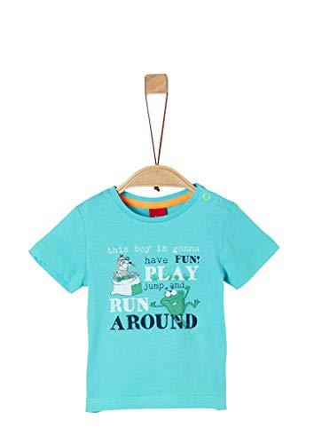 s.Oliver Junior Baby-Jungen 405.10.004.12.130.2038003 T-Shirt, 6224 türkisblau, 80