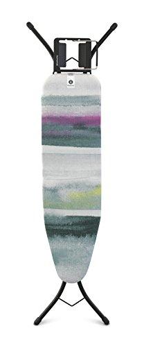 Brabantia Bügelbrett A, 110 x 30 cm, für Dampfbügeleisen, Stahl, Morgenbrise, 48.5 x 7 x 160.5 cm