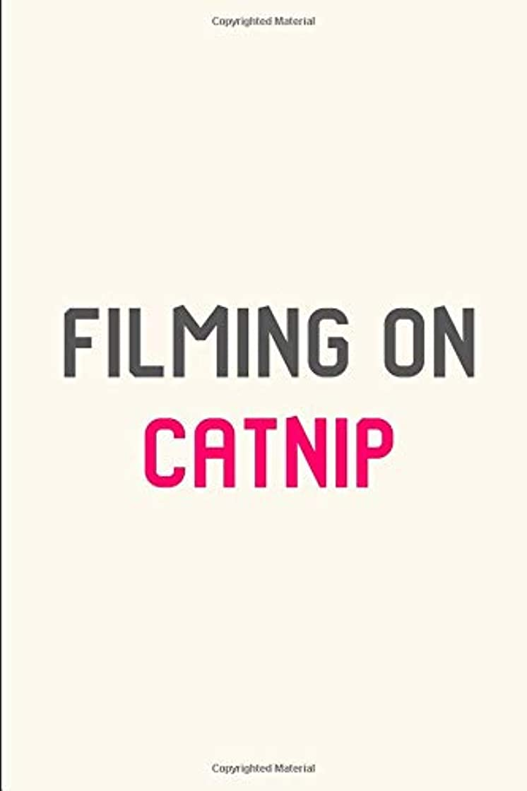 すきシダ摂動Filming on Catnip Pet Stunt Quote Filmmakers College Ruled Notebook: Blank Lined Journal