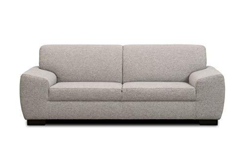 Domo Collection Incanto Sofa | 2,5-Sitzer, hellgrau, 220x89x81 cm