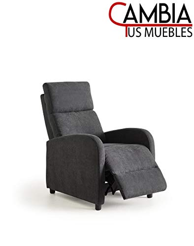 CAMBIA TUS MUEBLES - Nexus butaca Relax, sillón reclinable Manual Gris