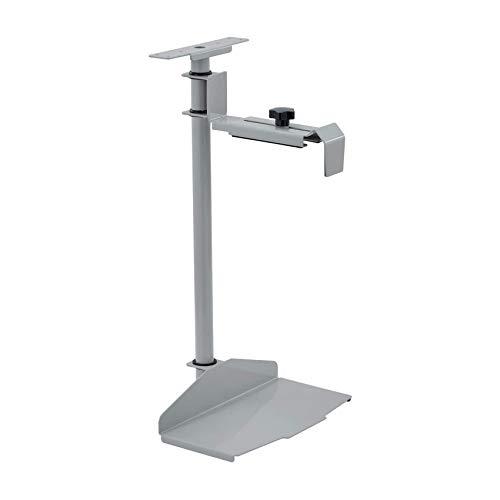 EUREKA ERGONOMIC Height & Width Adjustable CPU Holder Under Desk, 360 Degree Rotating CPU Hanger,Grey