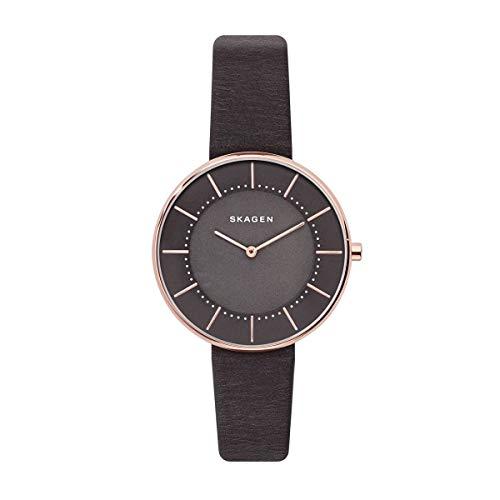 Skagen - Reloj de Pulsera analógico para Mujer (Cuarzo, Talla única), Color Gris