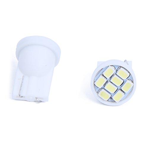 SODIAL(R) 20 x Bombilla Lampara T10 8 LED SMD Luz Blanco para Coche Matricula