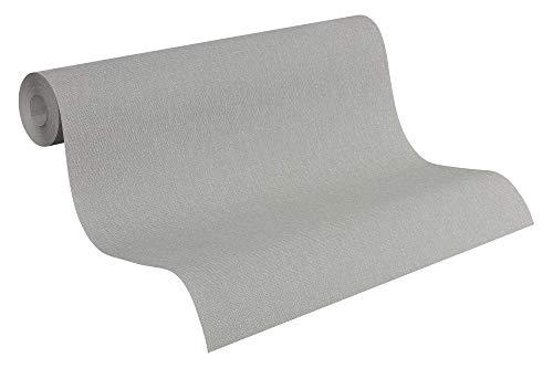 A.S. Création Vliestapete Elegance Tapete mit textilartiger Oberfläche Unitapete 10,05 m x 0,53 m grau Made in Germany 293022 2930-22