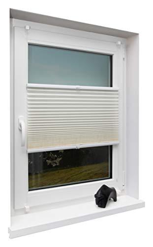 Beyond Drape Fertigplissee verspannt für Fenster ohne Bohren Crushed Optik, Stoff, Kunststoff,...