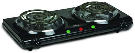 Top 10 Best salton double burner portable cooktop in black Reviews